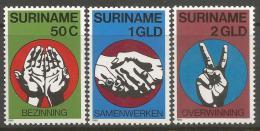 Poštovní známky Surinam 1980 Nezávislost Mi# 923-25