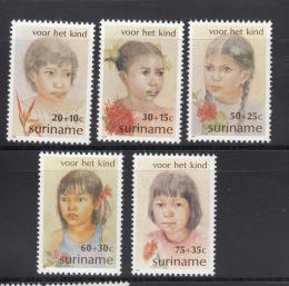 Poštovní známky Surinam 1981 Dìti Mi# 962-66