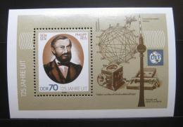 Poštovní známka DDR 1990 Philipp Reis, fyzik Mi# Block 101