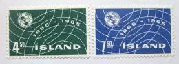 Poštovní známky Island 1965 Výroèí ITU Mi# 390-91