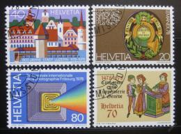 Poštovní známky Švýcarsko 1978 Výroèí a události Mi# 1116-19