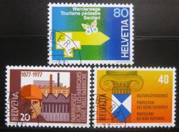 Poštovní známky Švýcarsko 1977 Výroèí a události Mi# 1109-11