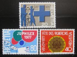 Poštovní známky Švýcarsko 1977 Výroèí a události Mi# 1087-89