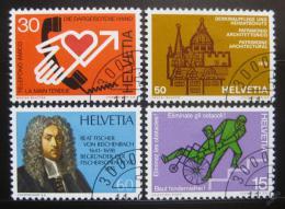 Poštovní známky Švýcarsko 1975 Výroèí a události Mi# 1058-61