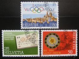 Poštovní známky Švýcarsko 1984 Výroèí a události Mi# 1267-69