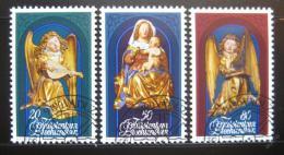 Poštovní známky Lichtenštejnsko 1982 Sochy, vánoce Mi# 813-15