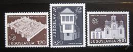 Poštovní známky Jugoslávie 1975 Architektura Mi# 1627-29