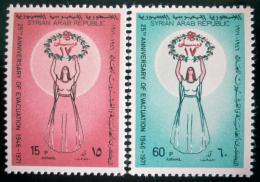 Poštovní známky Sýrie 1971 Odsun vojálù Mi# 1156-57