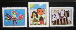 Poštovní známky Jugoslávie 1974 Dìtské kresby Mi# 1573-75