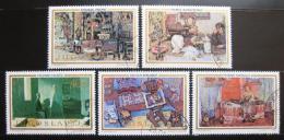 Poštovní známky Jugoslávie 1973 Umìní Mi# 1524-28