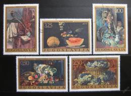 Poštovní známky Jugoslávie 1972 Umìní Mi# 1487-91