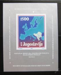 Poštovní známka Jugoslávie 1988 Mapa Evropy Mi# Block 31