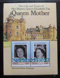 Poštovní známky Svatý Vincenc Gren. Bequia 1985 Královna Matka Mi# Block 1
