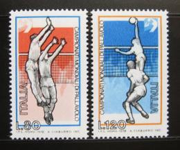 Poštovní známky Itálie 1978 MS ve volejbale Mi# 1624-25