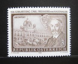 Poštovní známka Rakousko 1983 Carl von Hasenauer, architekt Mi# 1746