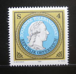 Poštovní známka Rakousko 1981 Toleranèní patent Mi# 1685