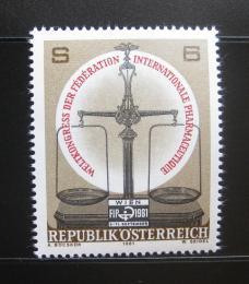 Poštovní známka Rakousko 1981 Kongres farmaceutické federace Mi# 1679