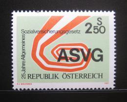 Poštovní známka Rakousko 1981 Sociální zabezpeèení Mi# 1664