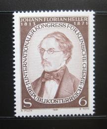 Poštovní známka Rakousko 1981 Johann Florian Heller, chemik Mi# 1676