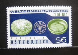 Poštovní známka Rakousko 1981 Svìtový den jídla Mi# 1686
