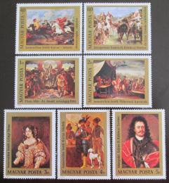 Poštovní známky Maïarsko 1976 Umìní Mi# 3108-14 Kat 9.50€