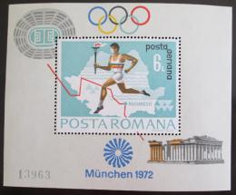 Poštovní známka Rumunsko 1972 LOH Mnichov Mi# Block 93 Kat 15€