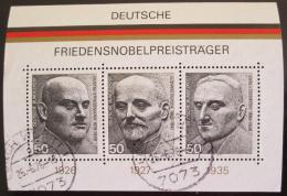 Poštovní známky Nìmecko 1975 Osobnosti Mi# Block 11
