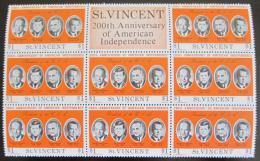 Poštovní známky Svatý Vincenc 1975 Ameriètí prezidenti Mi# 419