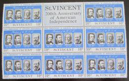 Poštovní známky Svatý Vincenc 1975 Ameriètí prezidenti Mi# 415