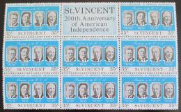 Poštovní známky Svatý Vincenc 1975 Ameriètí prezidenti Mi# 417