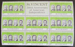 Poštovní známky Svatý Vincenc 1975 Ameriètí prezidenti Mi# 414