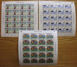 Poštovní známky Faerské ostrovy 1979 Dìtské kresby Mi# 45-47 Kat 40€