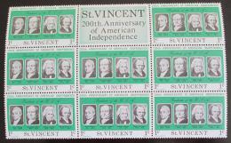 Poštovní známky Svatý Vincenc 1975 Ameriètí prezidenti Mi# 412