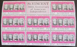 Poštovní známky Svatý Vincenc 1975 Ameriètí prezidenti Mi# 413