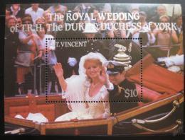 Poštovní známka Svatý Vincenc 1986 Královská svatba Mi# Block 40