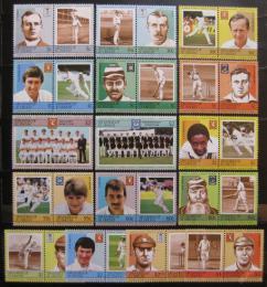Poštovní známky Svatý Vincenc Gren. 1984-85 Kriket Mi# 304-19,352-59,375-80