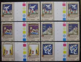 Poštovní známky Svatý Vincenc 1977 Vánoce Mi# 488-93