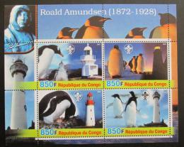 Poštovní známky Kongo 2005 Tuèòáci a majáky, skauting