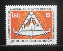 Poštovní známka Rakousko 1978 Kongres stavitelù Mi# 1579