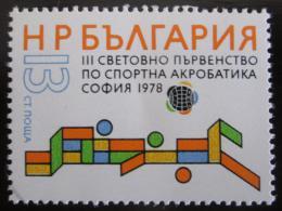 Poštovní známka Bulharsko 1978 MS v akrobacii Mi# 2717