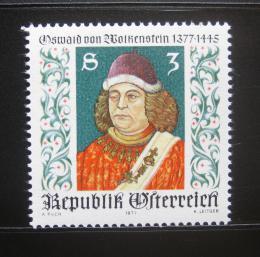 Poštovní známka Rakousko 1977 Oswald von Wolkenstein, básník Mi# 1541