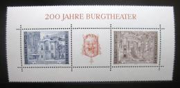 Poštovní známky Rakousko 1976 Vídeòské divadlo Mi# Block 3