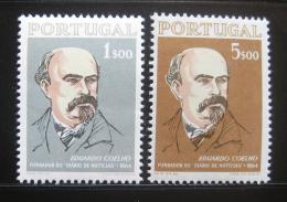 Poštovní známky Portugalsko 1964 Eduardo Coelho, novináø Mi# 972-73