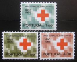 Poštovní známky Portugalsko 1965 Èervený køíž Mi# 987-89 Kat 16€
