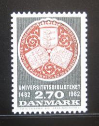 Poštovní známka Dánsko 1982 Univerzitní knihovna Mi# 766