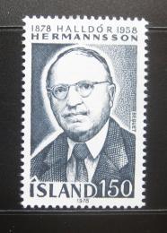 Poštovní známka Island 1978 Halldor Hermannsson, historik Mi# 538