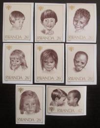 Poštovní známky Rwanda 1979 Rok dìtí neperf. Mi# 1461-70 B Kat 18€