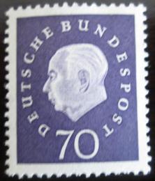Poštovní známka Nìmecko 1959 Prezident Heuss Mi# 306