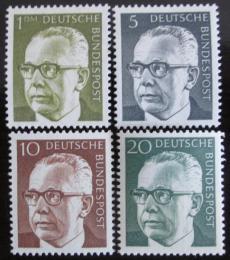 Poštovní známky Nìmecko 1970 Prezident Heinemann, roèník Mi# 635-37,644