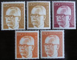 Poštovní známky Nìmecko 1972 Prez. Heinemann, roèník Mi# 691-92,728,730-31 Kat 13€